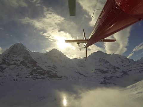 Flight to the Eiger North Face / GoPro Hero3 Black and bit Canon C300