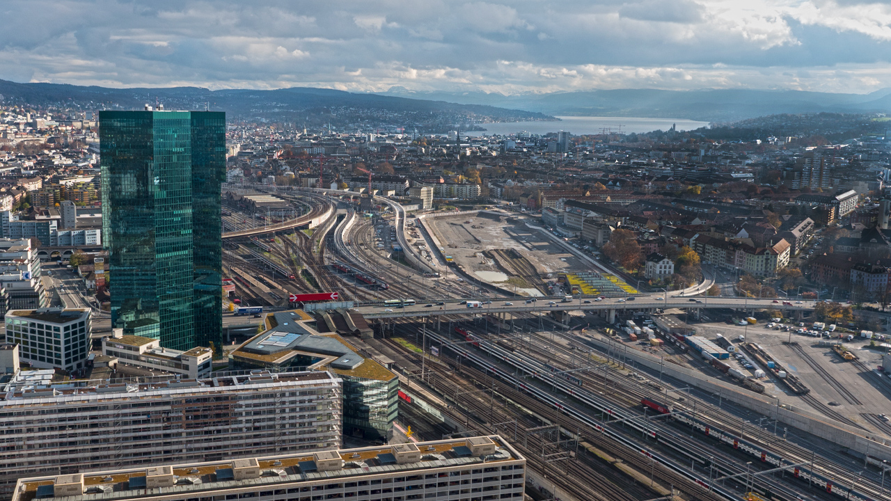 Zurich Aerial Photography With A Drone Uav Multicopter